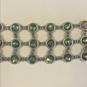 Lucky Brand faceted mother of pearl bracelet